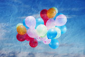 Balloons in sky — Stock Photo