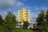 Prefab building a kindergarten in Hradec Kralove — Stockfoto