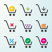 Set of icons of shopping carts — Stock Vector