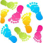 Fußspuren — Stockvektor