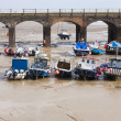 Boats at Folkestone harbour at low tide — Stock Photo #45156577