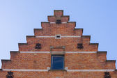 Close up traditional brickwork Bruges — Stockfoto