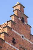 Close up traditional brickwork Bruges — Stock Photo