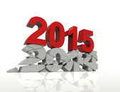 New year 2015 and old year 2014 — Zdjęcie stockowe