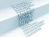 Planning 3d crossword concept — Stock Photo