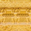Thai traditional style stucco of golden temples walls — Stock Photo #45736513
