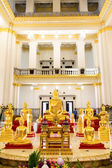 Buddha at main altar in temple, Thailand — Stock Photo