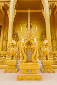 Golden Buddha statues in Thailand — Stock Photo