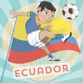 Ecuador soccer player — 图库矢量图片