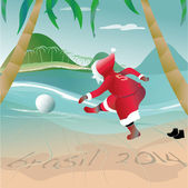Santa claus in brazil 2014 — Stock Vector