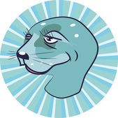 Head of a seal — Stock Vector