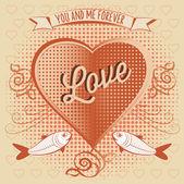 Aftelkalender voor Valentijnsdag symbool — Stockvector