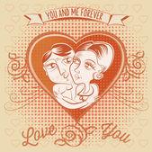 Valentine's day lovers — Stok Vektör