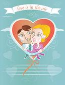 Valentine's day card — Stok Vektör