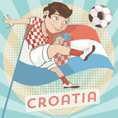 Croatia soccer player — Stock Vector