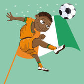 Ivory coast soccer boy — Stock Vector