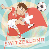 Swiss soccer player — Stock Vector