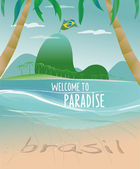 Brazilian beach vector — Stock Vector