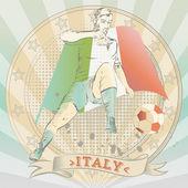 Fußballer — Stockvektor