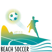 Beach soccer illustration — Stock Vector