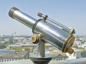 Telescope on the observation deck — Stock Photo