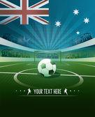 Australia soccer background — Stock Vector