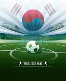 Korea tle piłka — Wektor stockowy