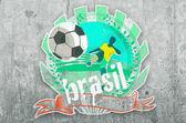 Brazil soccer symbol — Stock Photo