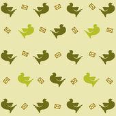 Pattern with dove — 图库矢量图片
