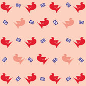 Pattern with dove — Stock Vector