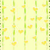 Seamless striped pattern with hearts — Stock Vector