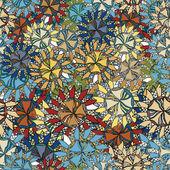 Círculos abstractos de patrones sin fisuras — Vector de stock