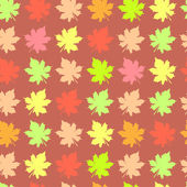 Abstract pattern with maple leaves — Stock Vector