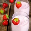Strawberry milkshake with strawberry — Stock Photo #47534959