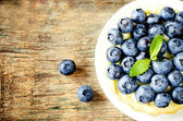 Tartlets with blueberries — Stock Photo