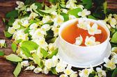 Chá com jasmim — Fotografia Stock