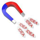 新しいアイデアのための磁石 — ストック写真