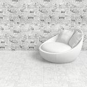 Kompozycja z whait fotel — Zdjęcie stockowe
