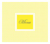 Yellow restaurant menu — Stock Vector