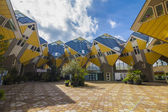 Yellow cubic houses in Rotterdam — Stock Photo