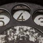 Old black telephone — Stock Photo #50306741