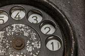 Old black telephone — Zdjęcie stockowe