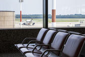 Airport benches — Stock Photo