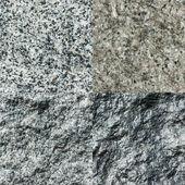Set of four stone textures — Stock Photo