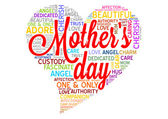 Mothers day word cloud tag concept in vector — Stock Vector