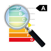 Housing energy efficiency rating certification system in vector — Stock Vector