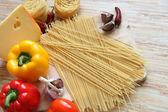 Cooking pasta — Stock Photo