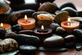 Candles and Stones — Stock Photo