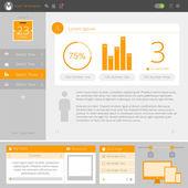 Website interface template design — Stock Vector