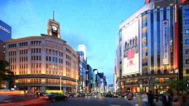 Ginza, tokyo, japonya — Stok video